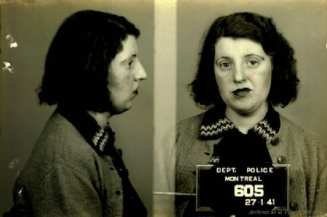Mugshots of Prostitutes of Montreal from the 1940's (6)